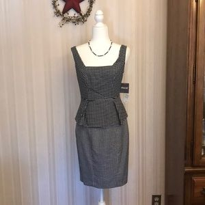 Muse peplum dress size 4 NWT